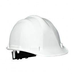 casque de chantier blanc